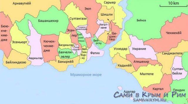 Районы-Стамбула-карта-на-русском