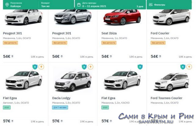 Выбор авто в Кайсери