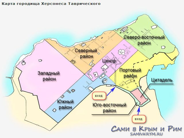 План территорий Херсонеса